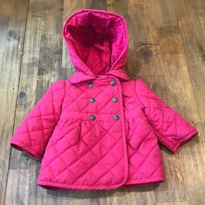 Baby Gap Quilted Hibiscus Barn Jacket 0/6M